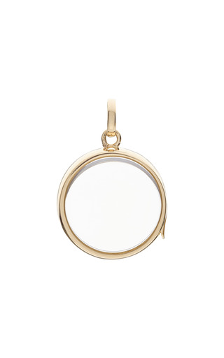 Medium loquet london gold large round locket in gold