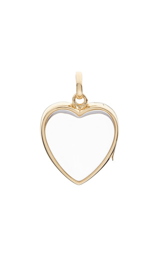 Large Heart Locket In Gold by LOQUET LONDON for Preorder on Moda Operandi