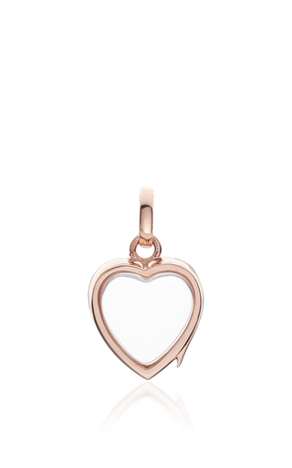 Medium loquet london rose gold small heart locket in rose gold