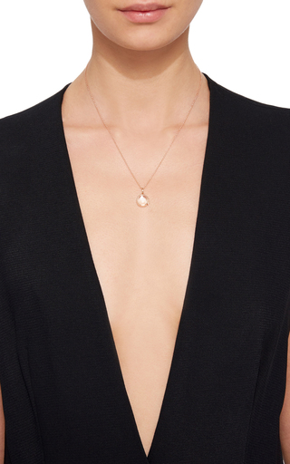 Small Round Locket In Rose Gold by LOQUET LONDON for Preorder on Moda Operandi