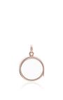 Medium Round Locket In Rose Gold by LOQUET LONDON for Preorder on Moda Operandi