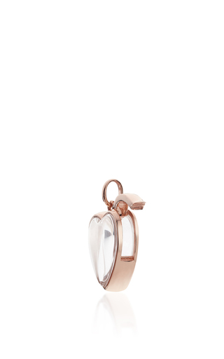 Medium Heart Locket In Rose Gold by LOQUET LONDON for Preorder on Moda Operandi