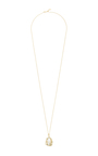 "Plain Gold Egg Locket On 32"" Yellow Gold Chain by LOQUET LONDON for Preorder on Moda Operandi"