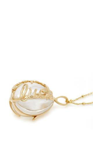 "Diamond Egg Locket On 32"" Sphere Chain by LOQUET LONDON for Preorder on Moda Operandi"