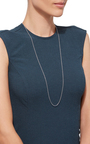 32 Inch White Gold Chain by LOQUET LONDON for Preorder on Moda Operandi