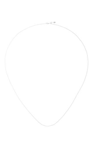 Medium loquet london silver 32 inch white gold chain