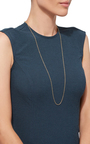32 Inch Yellow Gold Chain by LOQUET LONDON for Preorder on Moda Operandi
