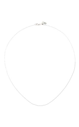 Medium loquet london silver 18 inch white gold chain