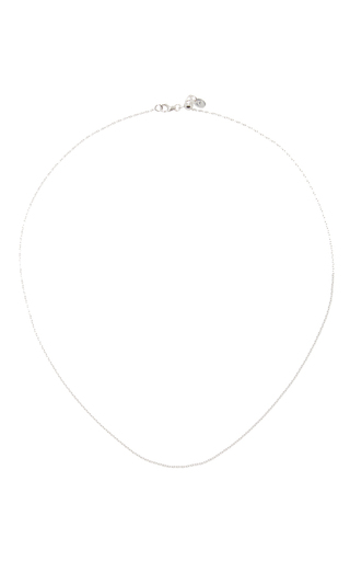 Medium loquet london silver 18 inch white gold chain