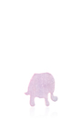Mother Of Pearl Pink Enamel Elephant Charm by LOQUET LONDON for Preorder on Moda Operandi