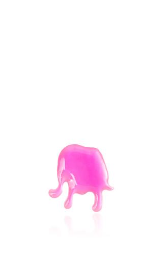 Medium loquet london white mother of pearl pink enamel elephant charm