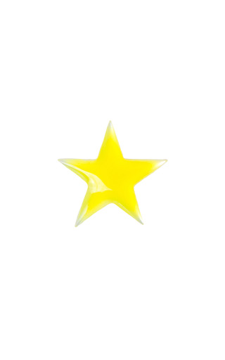 Mother Of Pearl Yellow Enamel Star Charm by LOQUET LONDON for Preorder on Moda Operandi