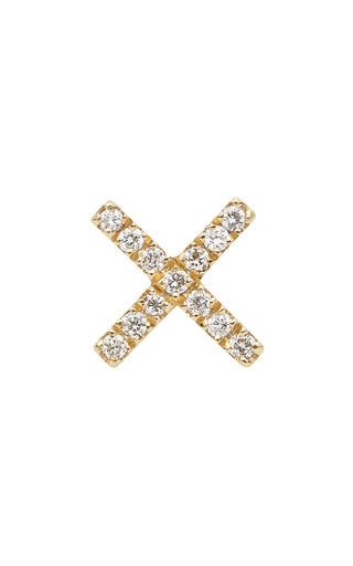 Medium loquet london gold gold diamond kiss charm