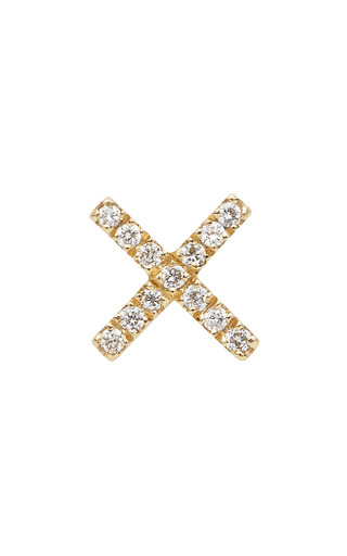 Medium loquet london gold gold diamond kiss charm