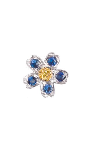 Medium loquet london silver forget me not charm