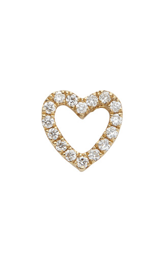 Medium loquet london gold gold diamond heart charm
