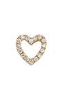 Gold Diamond Heart Charm by LOQUET LONDON for Preorder on Moda Operandi