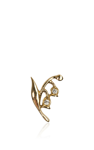 Medium loquet london gold yellow gold lily of the valley charm