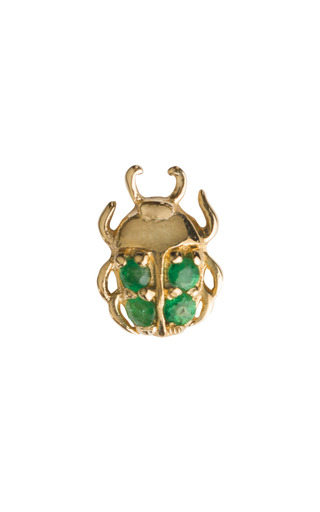 Medium loquet london gold beetle charm
