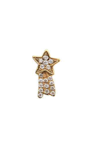 Medium loquet london gold diamond shooting star charm