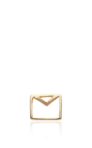 Medium loquet london gold envelope charm