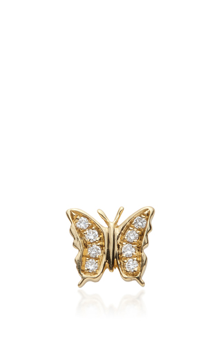 Gold And Diamond Butterfly Charm by LOQUET LONDON for Preorder on Moda Operandi