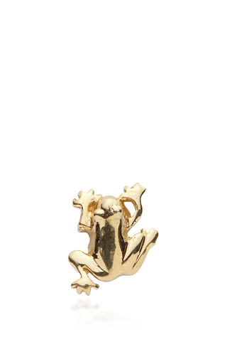Medium loquet london gold frog charm