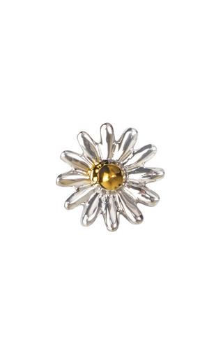 Medium loquet london silver 18k gold love daisy charm