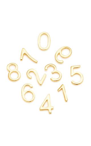 Medium loquet london gold 18k gold number charm