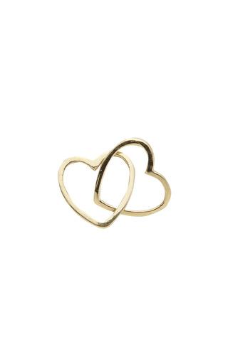 Medium loquet london gold joined heart charm