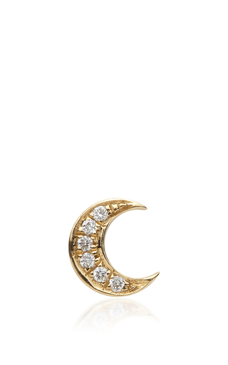 Medium loquet london gold gold and diamond moon charm