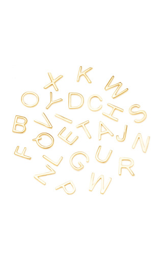 18 K Gold Letter A Z Charm by LOQUET LONDON for Preorder on Moda Operandi