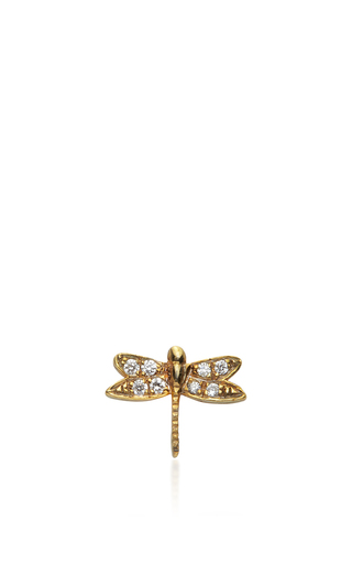 Gold And Diamond Dragonfly Charm by LOQUET LONDON for Preorder on Moda Operandi