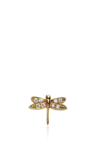 Medium loquet london gold gold and diamond dragonfly charm