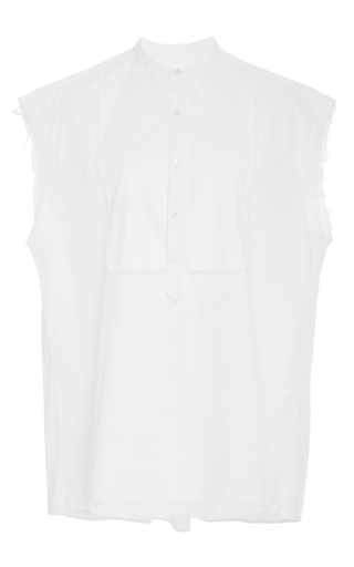 Medium nili lotan white casual elise short sleeve shirt