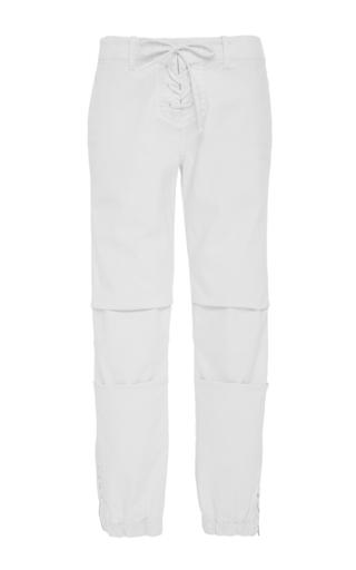 Medium nili lotan white lace up military pants