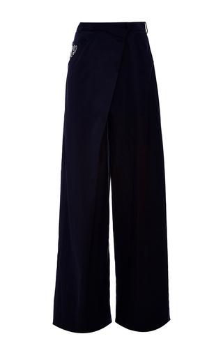 Medium adeam black wide leg deconstructed trouser
