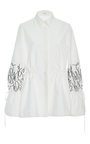 Embroidered Sleeve Shirt by ADEAM for Preorder on Moda Operandi
