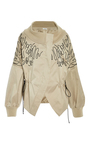 Embroidered Drop Shoulder Bomber Jacket by ADEAM for Preorder on Moda Operandi