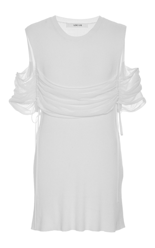 Drawstring Rib Top by ADEAM for Preorder on Moda Operandi