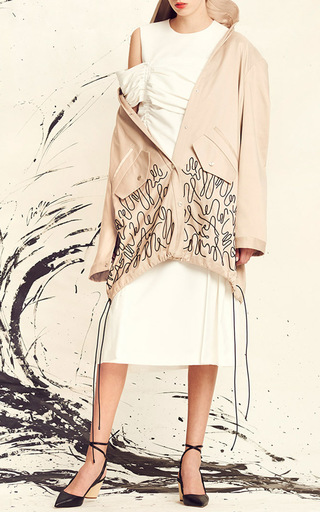 Oversize Embroidered Trench Coat by ADEAM for Preorder on Moda Operandi