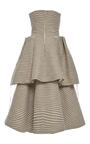 Strapless Drawstring Tiered Dress by ADEAM for Preorder on Moda Operandi