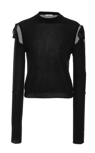 Medium adeam black tied detail cutout sweater