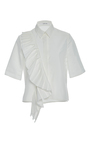 Pleated Ruffle Button Up Top by ADEAM for Preorder on Moda Operandi
