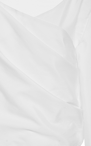V Neck Wrap Blouse by ADEAM for Preorder on Moda Operandi