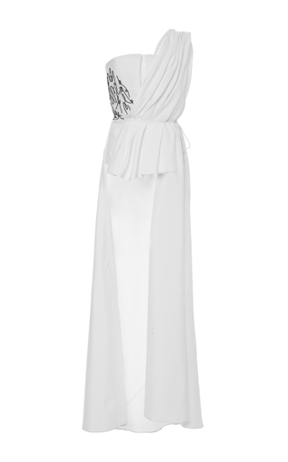 Medium adeam white embroidered bustier top