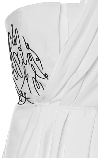 Embroidered Bustier Top by ADEAM for Preorder on Moda Operandi