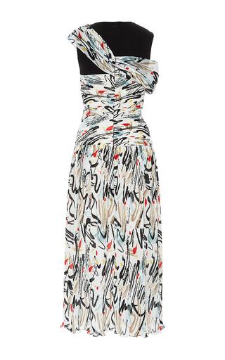Combo Print Open Shoulder Dress by ADEAM for Preorder on Moda Operandi