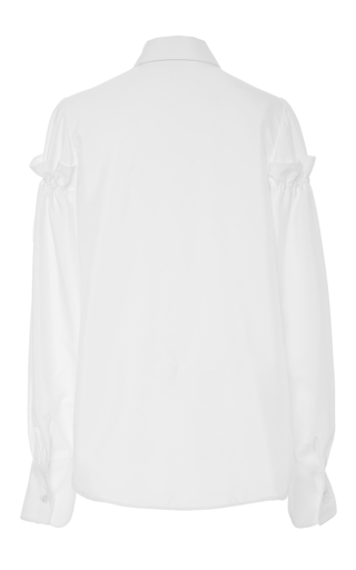 Gathered Sleeve Button Up Top by ADEAM for Preorder on Moda Operandi