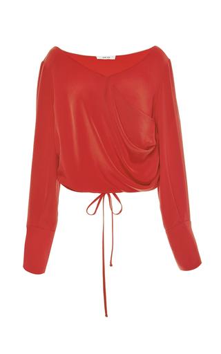 Medium adeam red v neck wrap blouse 2